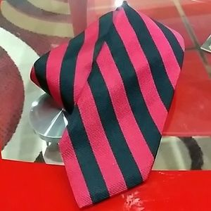 VTG BRUSSELL'S TIE RED BLUE BEVERY HILLS